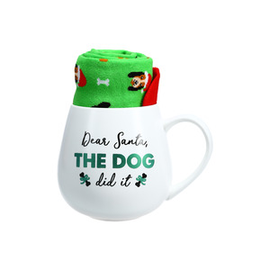 Dear Santa by Warm & Toe-sty - 15.5 oz Mug and Sock Set