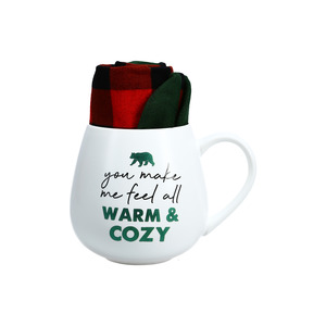 Warm & Cozy by Warm & Toe-sty - 15.5 oz Mug and Sock Set