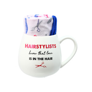 Hairstylist by Warm & Toe-sty - 15.5 oz Mug and Sock Set
