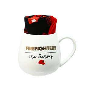 Firefighters by Warm & Toe-sty - 15.5 oz Mug and Sock Set