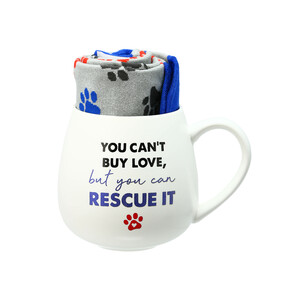 Rescue by Warm & Toe-sty - 15.5 oz Mug and Sock Set