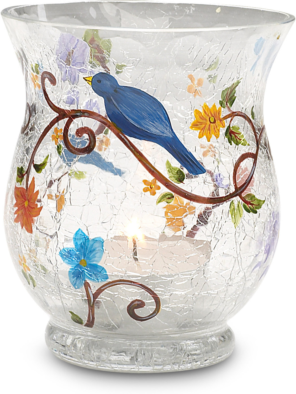 "Nature's Whisper by We Love - Nature's Whisper - 3.5"" x 3""Glass Candle Holder"
