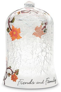 "Friends and Family by We Love - 7.5"" Crackled Glass Dome"