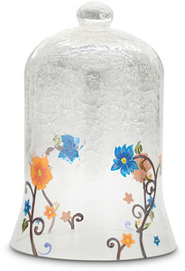 "Floral Garden by We Love - 10"" Crackled Glass Dome"