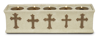 "Peace Be With You by We Love - 11""x3""x3""(5)Tea Light Holder"