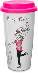 Busy Bride by philoSophies - 15 oz. Ceramic Travel Mug