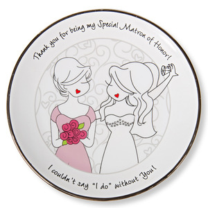 "Matron of Honor by philoSophies - 5"" Keepsake Dish"