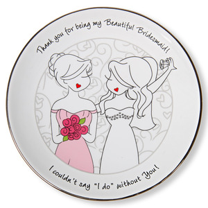 "Bridesmaid by philoSophies - 5"" Keepsake Dish"