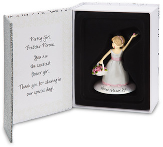 "Flower Girl by philoSophies - 4.5"" Ornament"