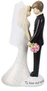 "Bride & Groom by philoSophies - 4.5"" Cake Topper"