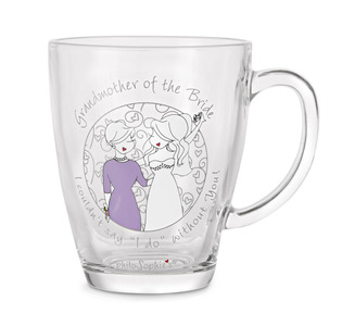 Grandmother of the Bride by philoSophies - 12.5oz Glass Cup