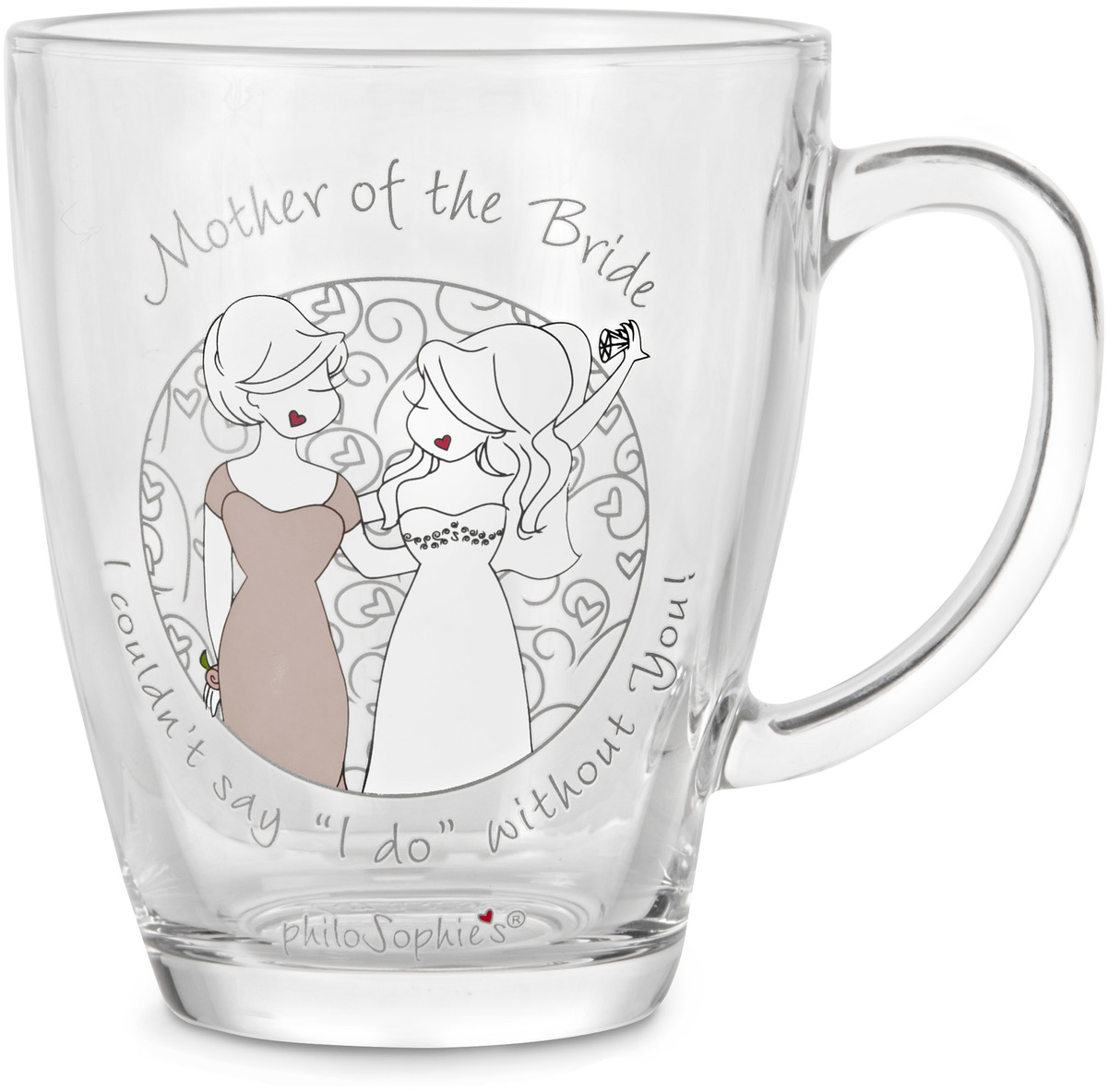 Mother of the Bride by philoSophies - Mother of the Bride - 12.5oz Glass Cup