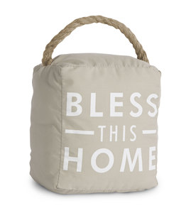 "Bless This Home by Open Door Decor - 5"" x 6"" Door Stopper"