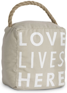 "Love Lives Here by Open Door Decor - 5"" x 6"" Door Stopper"