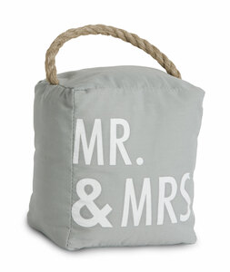 "Mr. & Mrs. by Open Door Decor - 5"" x 6"" Door Stopper"