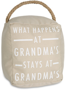 "Grandma's by Open Door Decor - 5"" x 6"" Door Stopper"