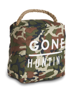 "Gone Huntin' by Open Door Decor - 5"" x 6"" Door Stopper"