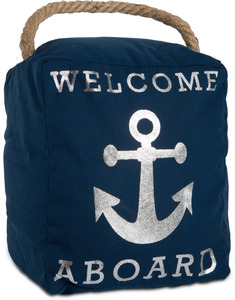 "Welcome Aboard by Open Door Decor - 5"" x 6"" Door Stopper"