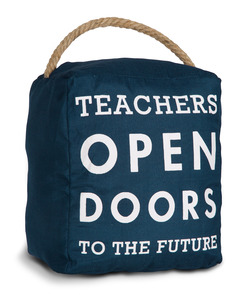"Teachers by Open Door Decor - 5"" x 6"" Door Stopper"