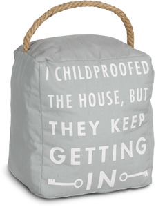 "Childproof by Open Door Decor - 5"" x 6"" Door Stopper"