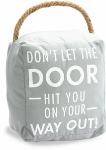 "Way Out by Open Door Decor - 5"" x 6"" Door Stopper"