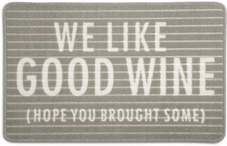 "Good Wine by Open Door Decor - 27.5"" x 17.75""   Floor Mat"
