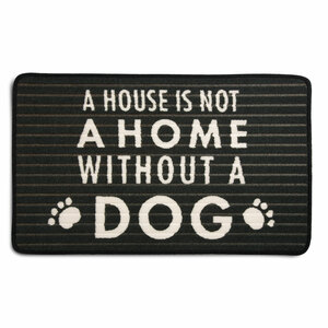 "Dog by Open Door Decor - 27.5"" x 17.75""   Floor Mat"