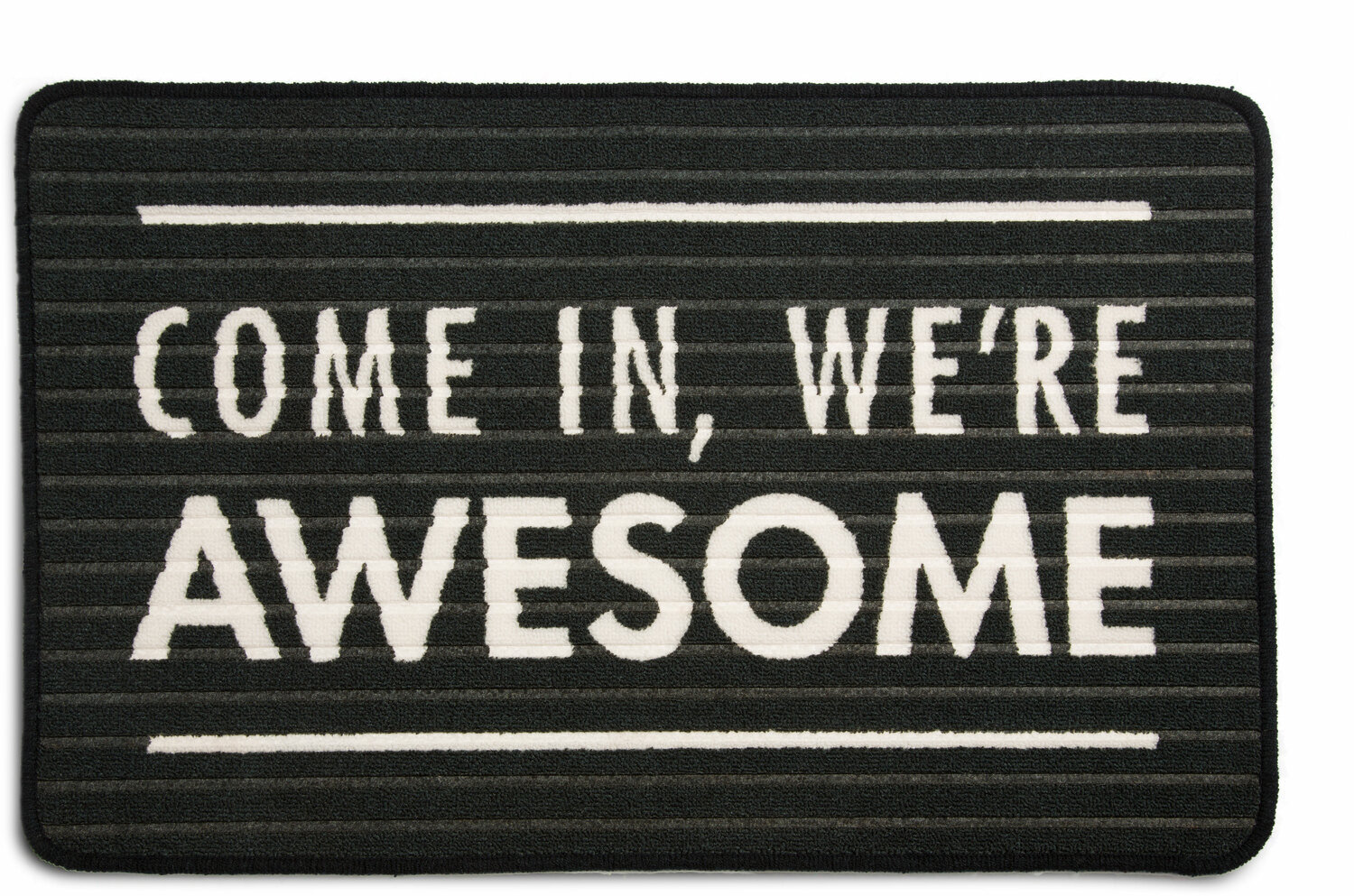 "We're Awesome by Open Door Decor - We're Awesome - 27.5"" x 17.75""   Floor Mat"