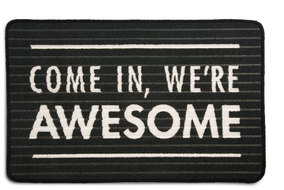 "We're Awesome by Open Door Decor - 27.5"" x 17.75""   Floor Mat"