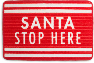 "Santa by Open Door Decor - 27.5"" x 17.75""   Floor Mat"
