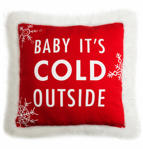 "Baby It's Cold by Open Door Decor - 24"" x 24"" Decorative Pillow"