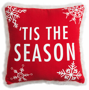 "Tis the Season by Open Door Decor - 12"" x 12"" Decorative Pillow"