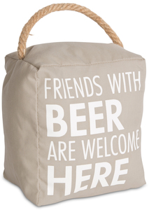 "Beer by Open Door Decor - 5"" x 6"" Door Stopper"