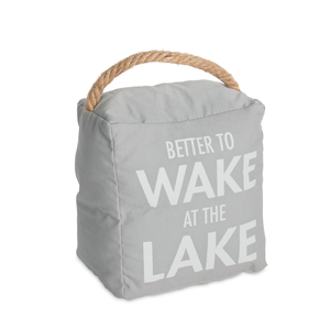 "Lake by Open Door Decor - 5"" x 6"" Door Stopper"