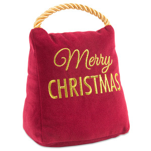 "Christmas by Open Door Decor - 5"" x 6"" Velvet Door Stopper"