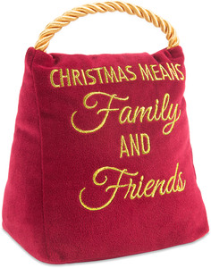 "Family & Friends by Open Door Decor - 5"" x 6"" Velvet Door Stopper"