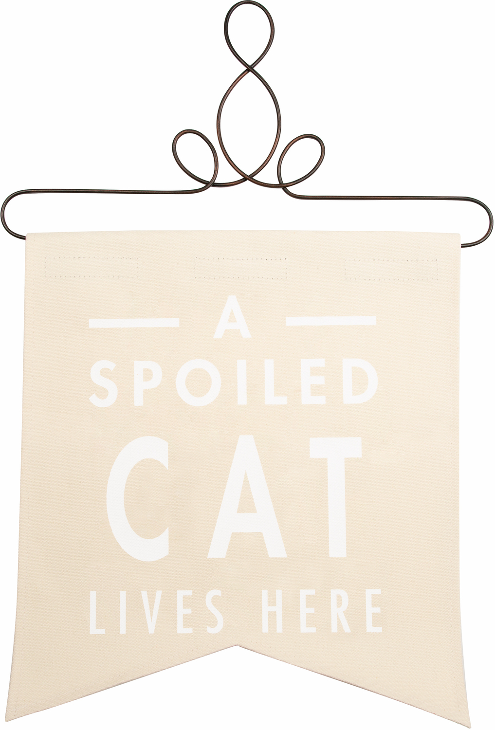"Spoiled Cat by Open Door Decor - Spoiled Cat - 14"" x 16"" Banner"
