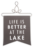 At the Lake by Open Door Decor -