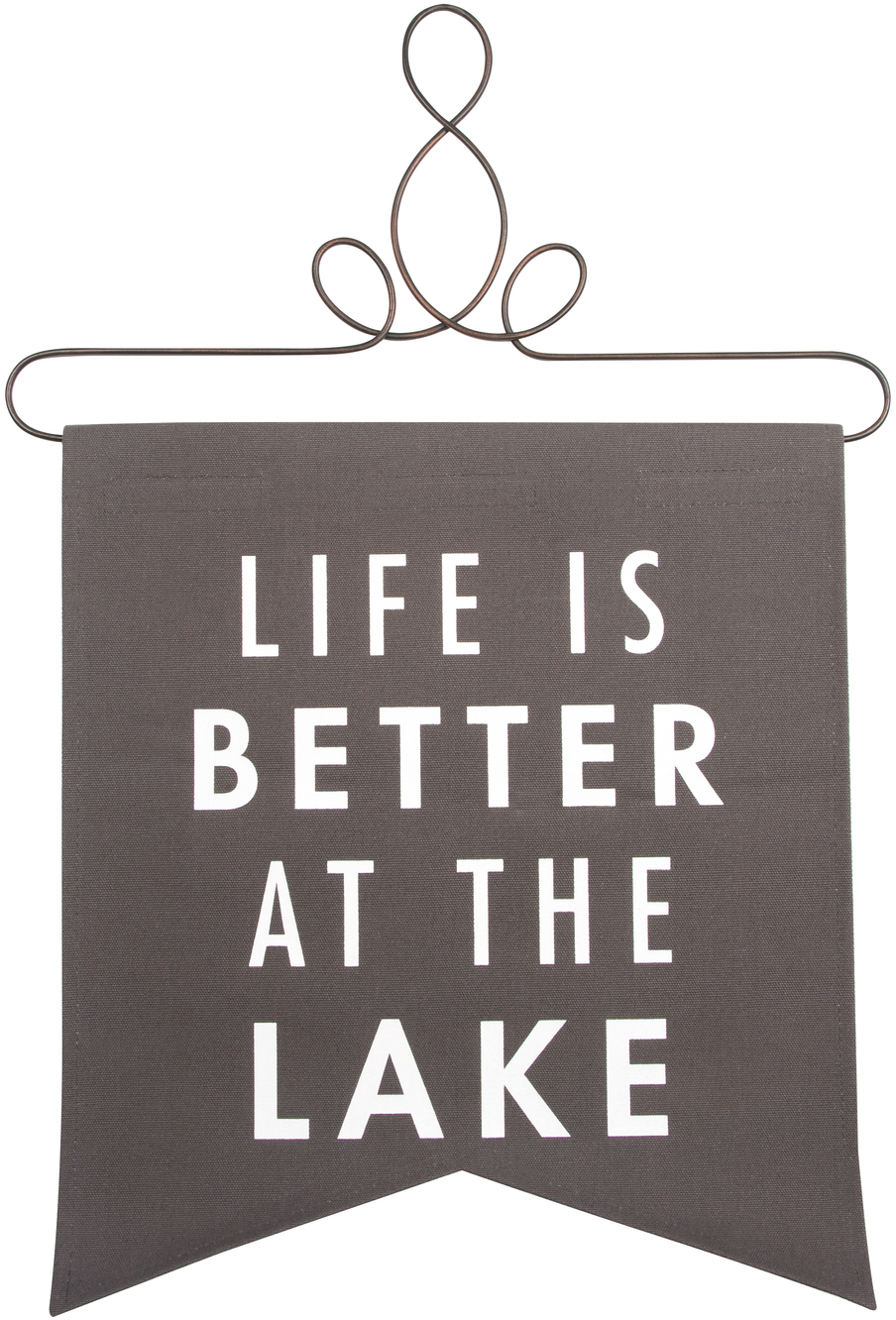 "At the Lake by Open Door Decor - At the Lake - 14"" x 16"" Banner"