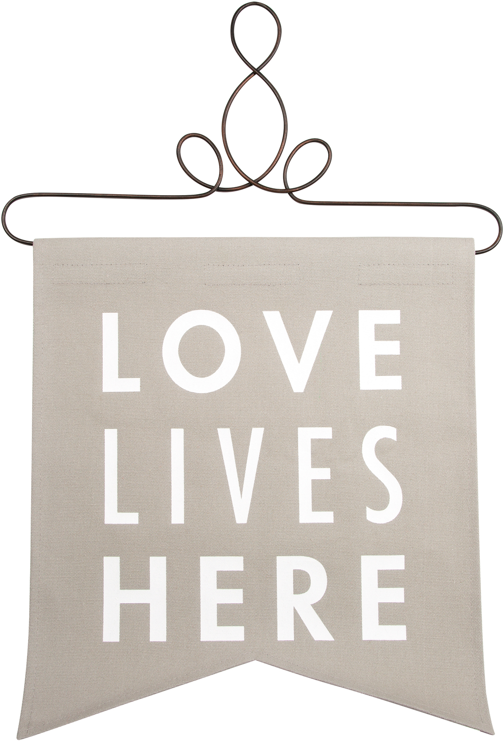 "Love Lives Here by Open Door Decor - Love Lives Here - 14"" x 16"" Banner"