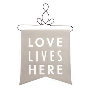"Love Lives Here by Open Door Decor - 14"" x 16"" Banner"