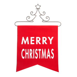 "Merry Christmas by Open Door Decor - 14"" x 16"" Banner"