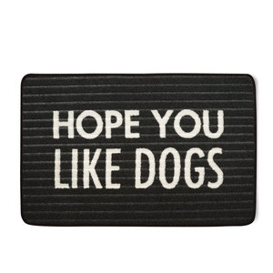 "Like Dogs by Open Door Decor - 27.5"" x 17.75"" Floor Mat"
