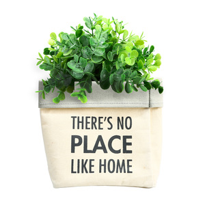 "Place Like Home by Open Door Decor - Canvas Planter Cover (Holds a 6"" Pot)"