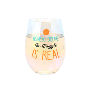 Homeschooling by Essentially Yours - 18 oz Stemless Wine Glass