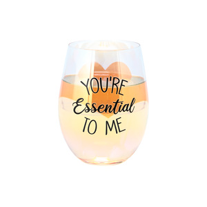 You're Essential  by Essentially Yours - 18 oz Stemless Wine Glass