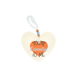 "You're Essential  by Essentially Yours - 3.5"" Heart-Shaped Ornament"