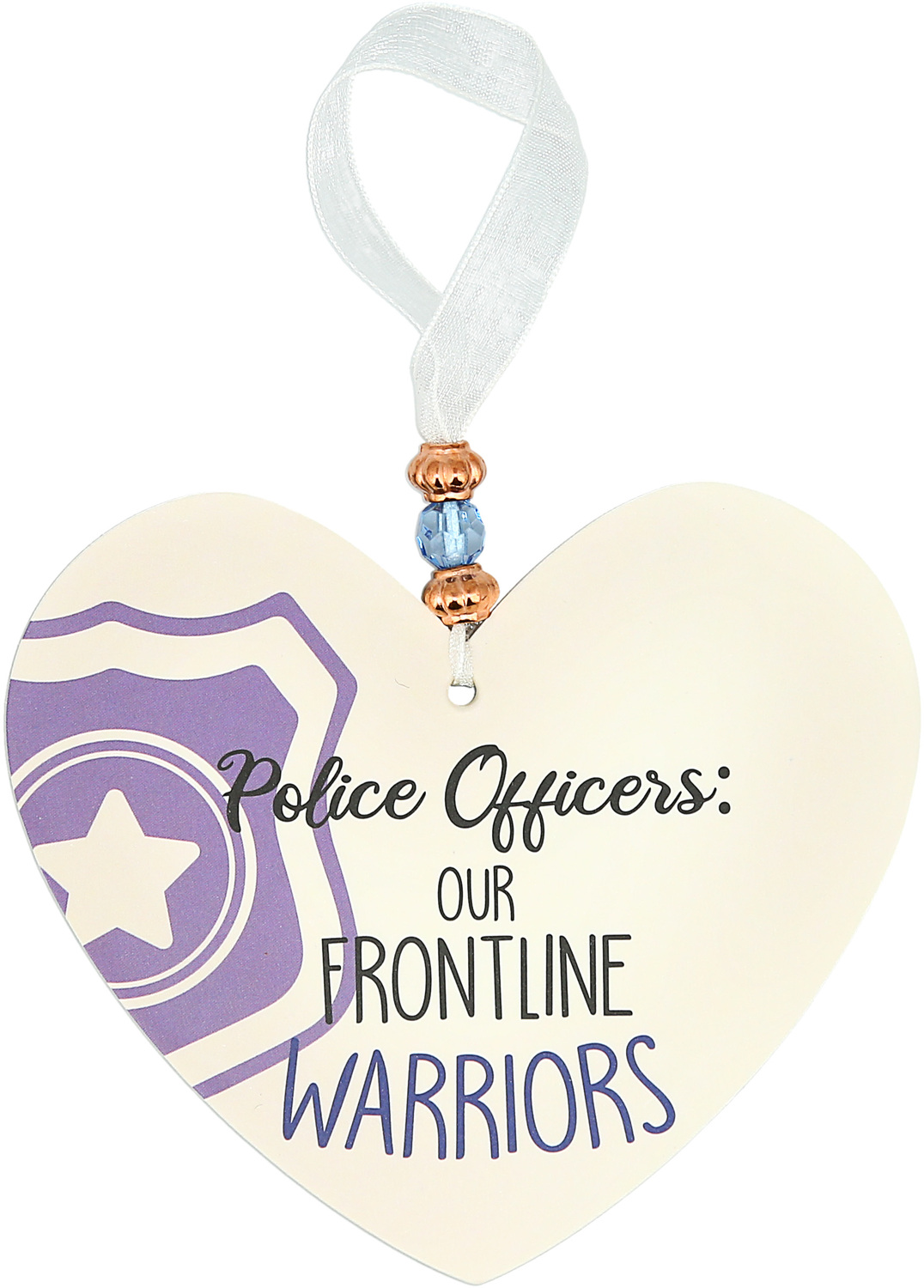 "Police Officers by Essentially Yours - Police Officers - 3.5"" Heart-Shaped Ornament"