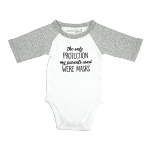 Protection by Essentially Yours - 0-6 Months Bodysuit 3/4 Length Heathered Gray Sleeve