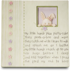 "My Little Hands by Cutie Patootie - 7"" Plaque with Bunny"